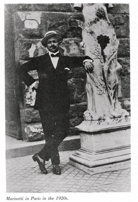 Filippo Tomaso Marinetti in Paris in the 1920s
