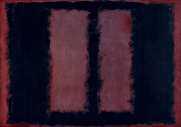 Mark Rothko Black on Maroon Sketch for 'Mural No. 6' 1958