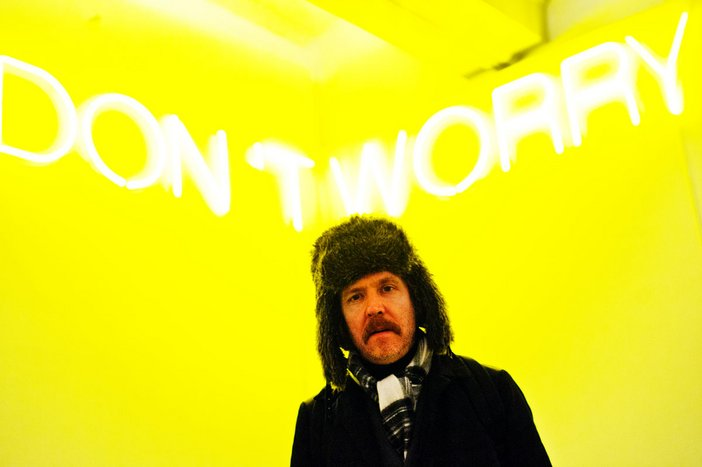Martin Creed with Work No. 944 2008 at Tate Liverpool