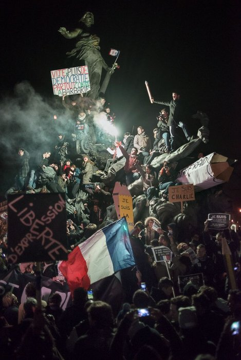 Charlie Hebdo protest march Paris January 11 2015