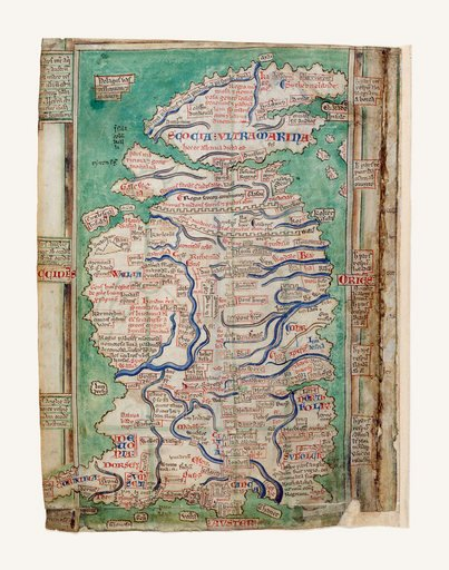 Matthew Paris Map of the British Isles 1250