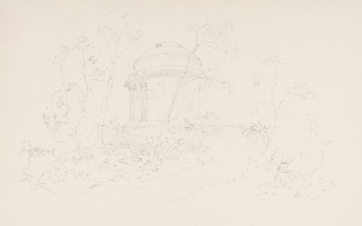 Megumi Uenoyama After Turner The Brocklesby Mausoleum Seen among Trees 1798