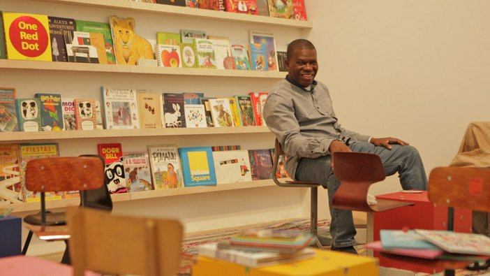 Meschac Gaba in his Library, from Museum of Contemporary African Art Installation at Tate Modern