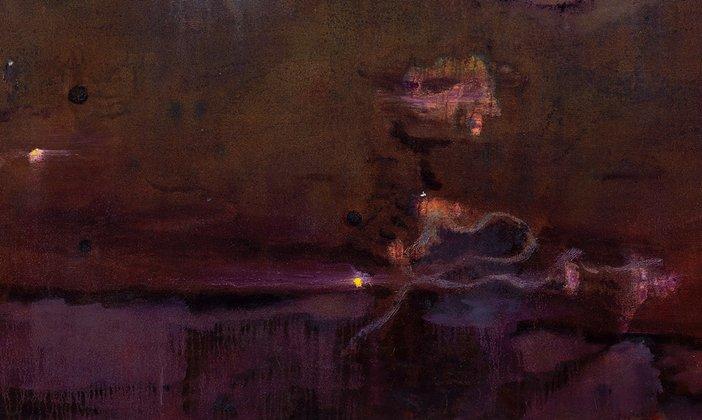 Detail of Peter Doig, Echo Lake 1998