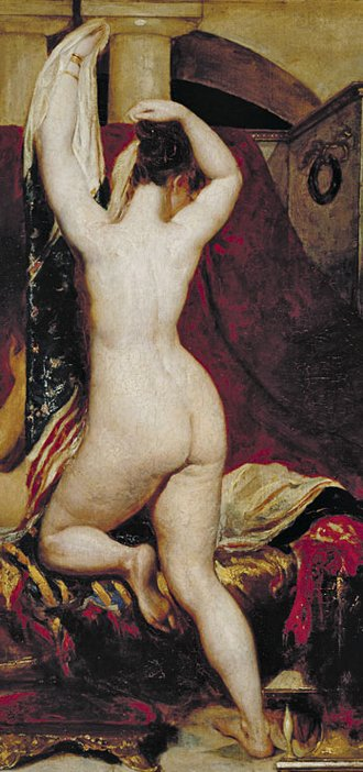 William Etty Candaules, King of Lydia, Shews his Wife by Stealth to Gyges, One of his Ministers, as She Goes to Bed (detail)