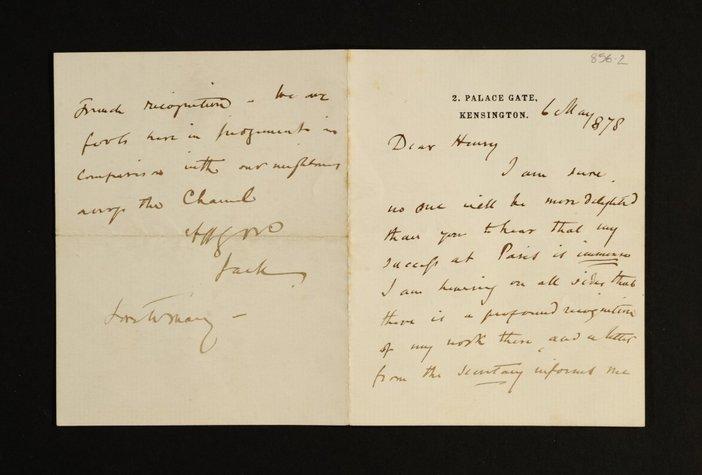 Letter by J.E. Millais 1