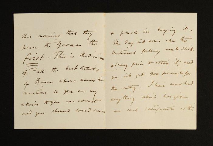 Letter by J. E. Millais 2