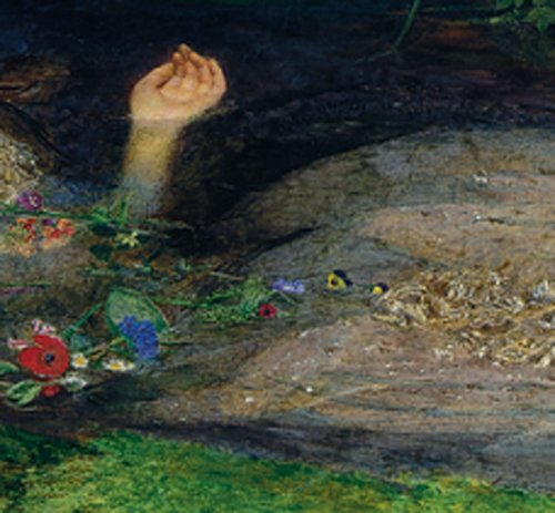 Sir John Everett Millais Detail of Ophelia hand