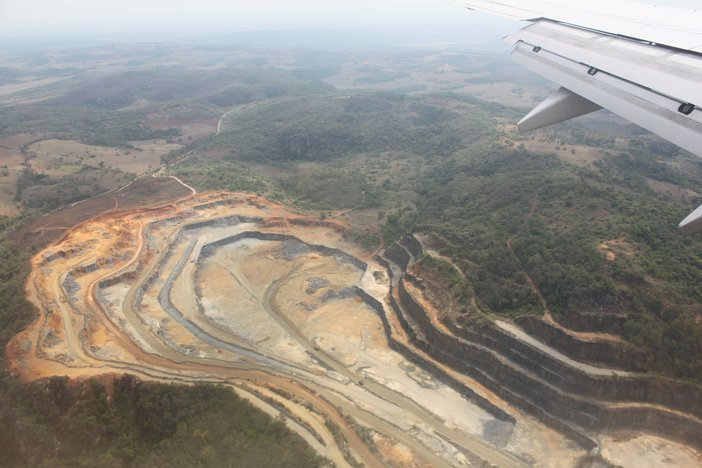 Mines seen from the flight into Belo Horizonte