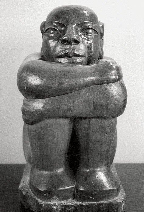 Ronald Moody The Onlooker 1958 teak, 65 x 32 x 38 cm