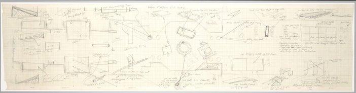 Robert Morris's hand-drawn, aerial-view plan 1971