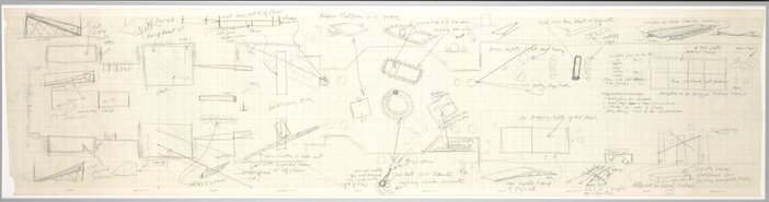 Robert Morris's hand-drawn, aerial-view plan 1971