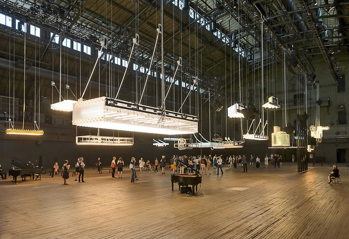 Philippe Parreno's H {N}Y P N{Y} OSIS installation at Park Avenue Armory, 2015