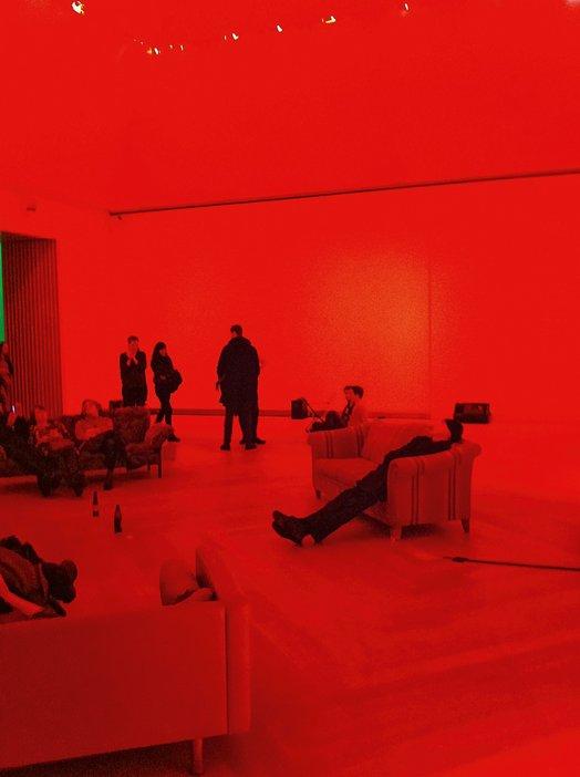Installation view of Carl Michael von Hausswolff's freq_out 8 at Moderna Museet, Stockholm, 2012