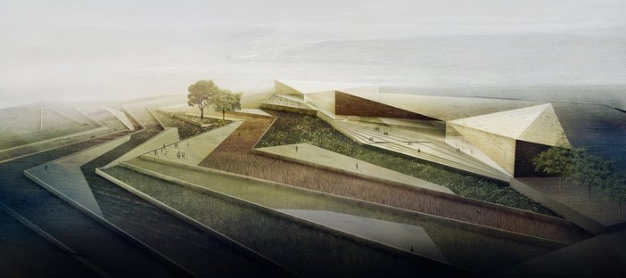 Architect's render of the Palestinian Museum, Ramallah, designed by Heneghan Peng and due to open in 2016