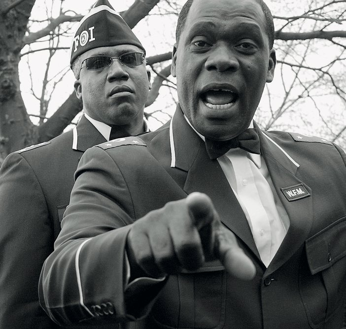 A member of the religious group Nation of Islam at Speakers Corner Hyde Park London 2007