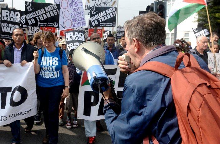 Michael Eden, Newport NATO Protest, 2014