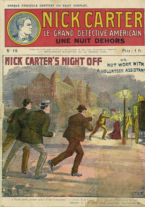 Cover of issue 19 of NIck Carter: Le Grand Détective Américan