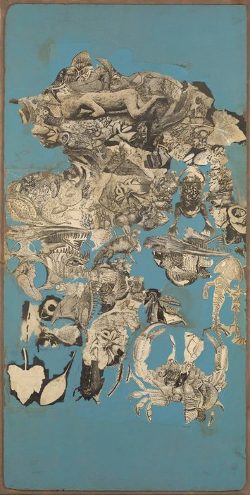 Nigel Henderson, Collage for 'Patio and Pavilion' (cycle of life and death in a pond), 1956