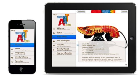 Tate guide to modern art terms app