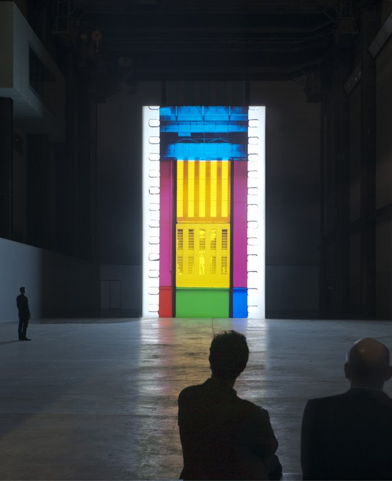 Image showing Tacita Dean's installation FILM at Tate Modern's Turbine Hall.