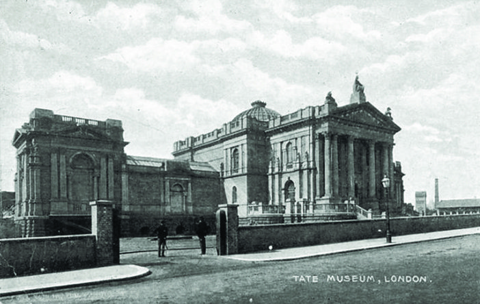 Tate Gallery, Millbank Steps, 1906