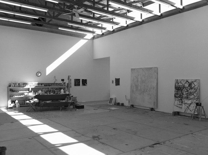 Charline von Heyl's studio Marfa, Texas, November 2011