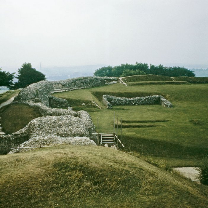 The ruins at Old Sarum, Salisbury, Photographed by Nancy Holt 1969