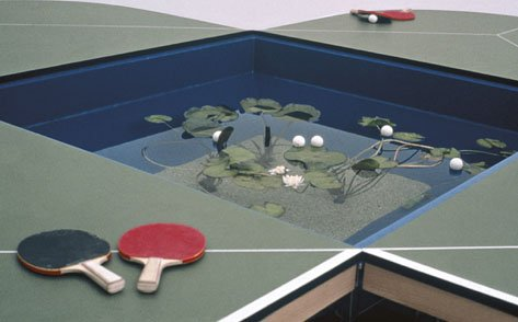Gabriel Orozco Ping Pond Table (detail) 1998