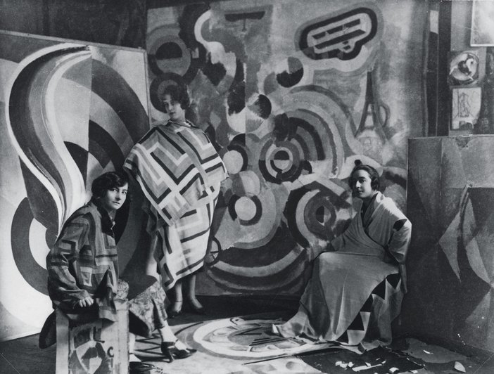 Sonia Delaunay and two friends in Robert Delaunay's studio, rue des Grands-Augustins, Paris 1924