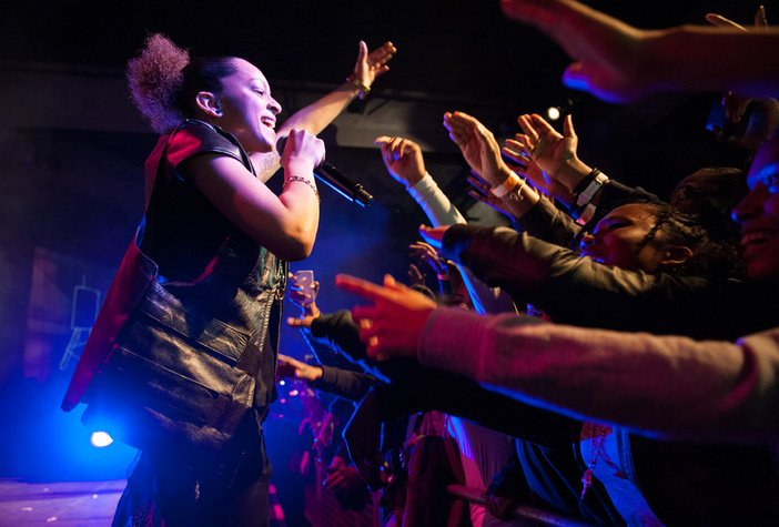 Hyperlink performance by Paigey Cakey & Lady Leshurr, copyright Richard Eaton
