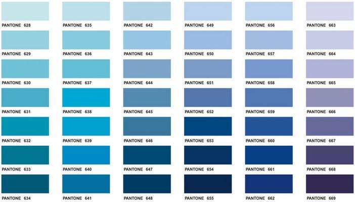 Pantone swatches Agnes Martin colour palette blue