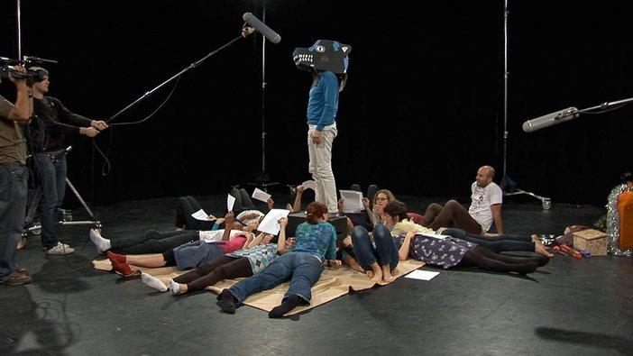 Patrick Staff filming Beyond Former Heaven, 2010
