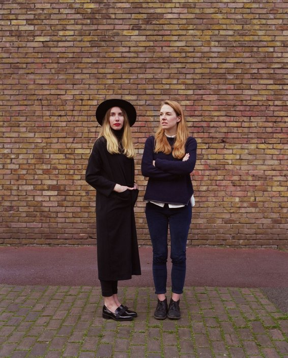 Grace and Anna from Patternity outside their London studio