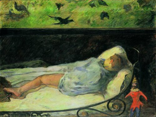 Paul Gauguin The Little One Is Dreaming