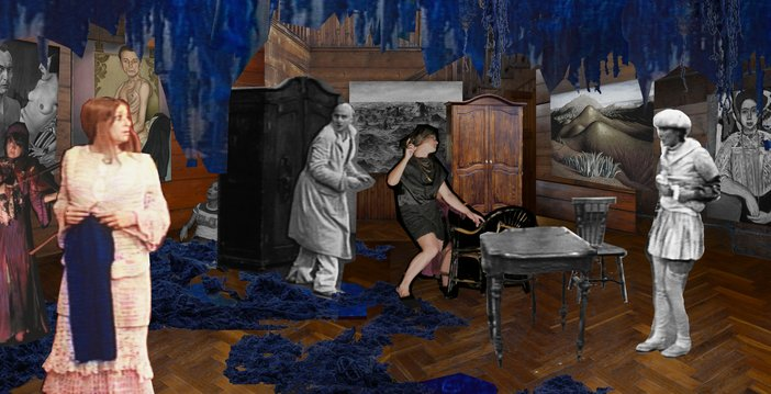 Paulina Olowska, Re-stage of 'The Mother', Collage, 2015