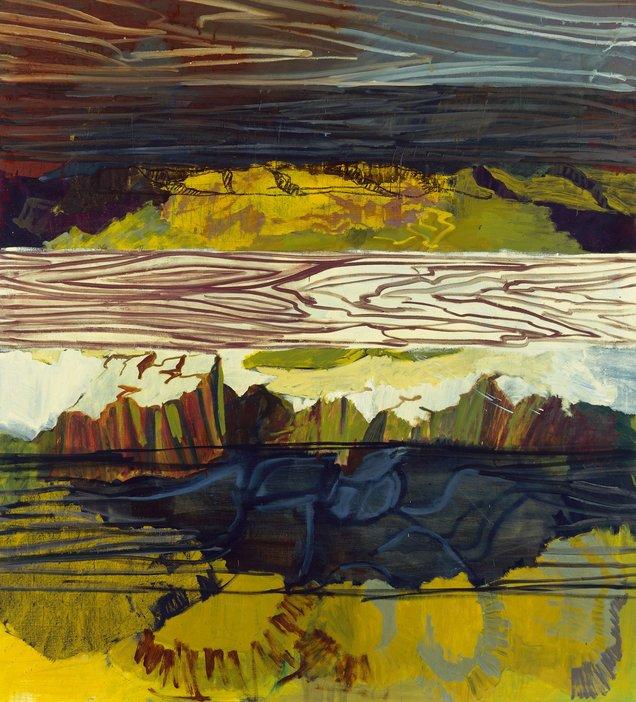Per Kirkeby Brett Felsen 2000 landscape painting