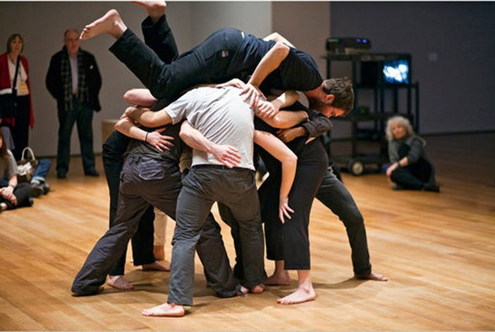 Performance 2 Re-enactment of Simone Fortis Huddle at MoMA New York 2009
