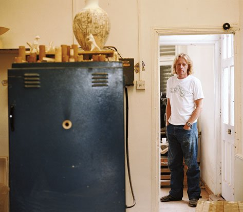 Grayson Perry photograph with his kiln