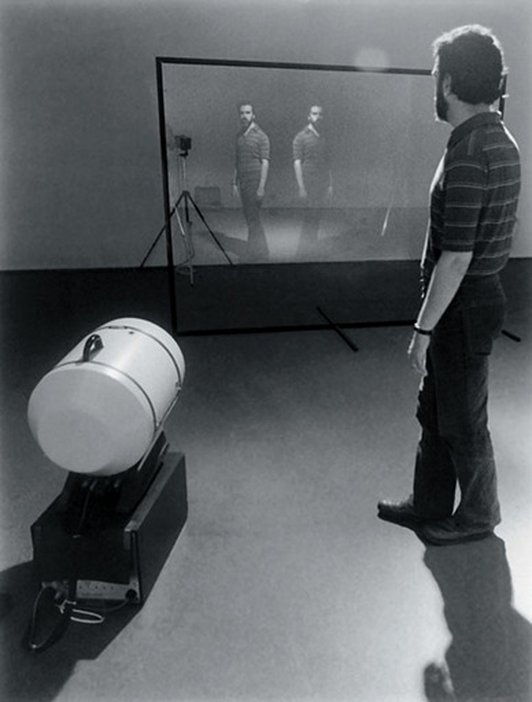 Peter Campus Interface Installation view at Kolnischer Kunstverein 1972