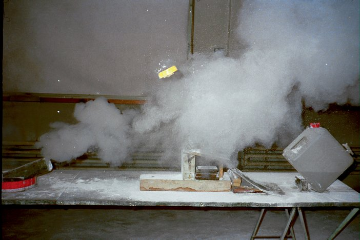 Peter Fischli and David Weiss The Way Things Go 1987 still three