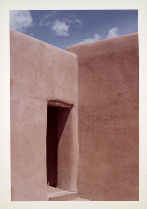Photograph of Georgia O'Keeffe's Abiquiu house, New Mexico