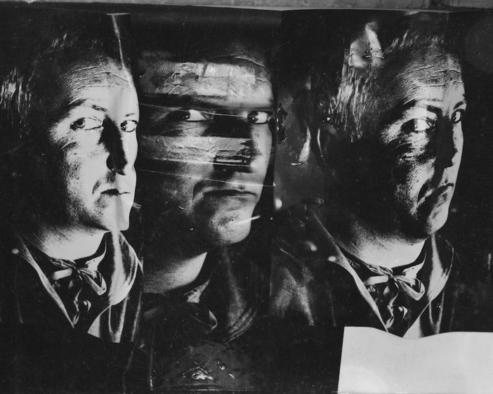 Photograph showing a distorted image of Nigel Henderson, date unknown