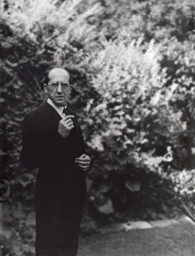 Piet Mondrian photographed in a Hampstead garden by John Cecil Stephenson 1939