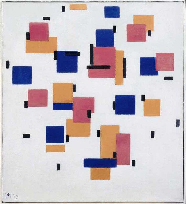 Piet Mondrian Compositie in Kleur B (Composition in Colour B) 1917