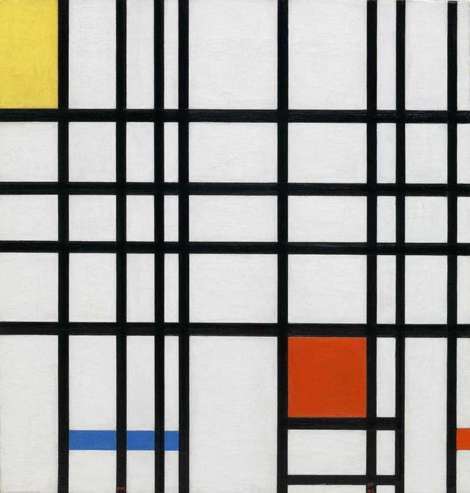 Piet Mondrian Composition with Yellow, Blue and Red 1937-42