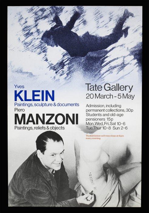 Exhibition leaflet for Two European Artists: Klein and Manzoni 1974