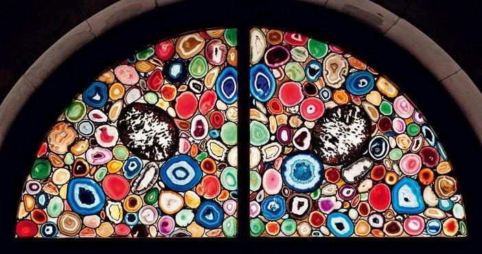 Agate window designed by Sigmar Polke for Grossmünster cathedral, Zurich, 2009