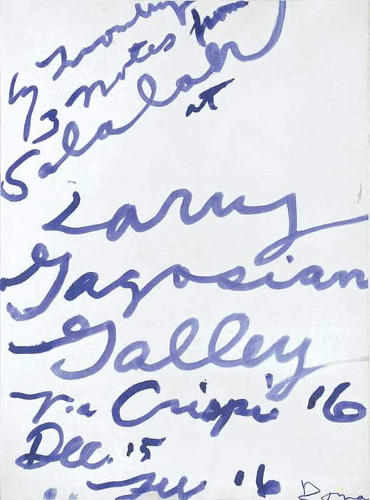 Poster for Cy Twombly's exhibition Three notes from Salalah at Gagosian Gallery, Rome 2008