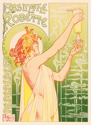 T Privat Livemont Poster for Absinthe Robette 1896